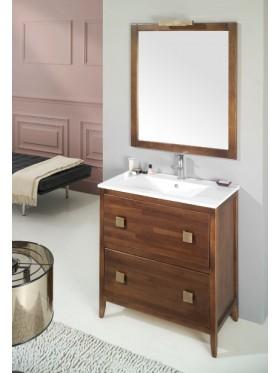 Mueble r stico de ba o luc a for Espejos de bano rusticos de madera