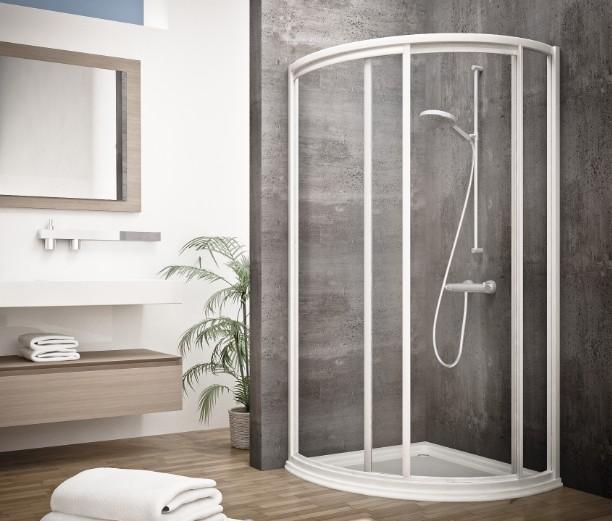 Mampara semicircular de ducha edipo seviban - Mamparas acrilicas para ducha ...