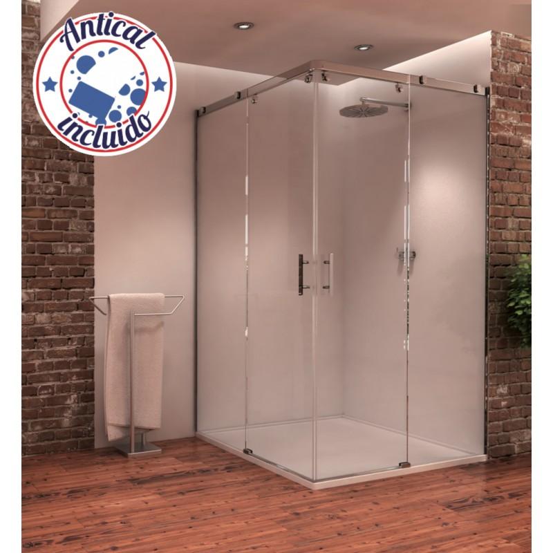 Mampara angular de ducha gamma seviban - Mamparas de ducha cuadradas ...