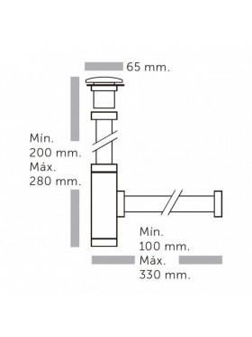 Sifón minimal de latón