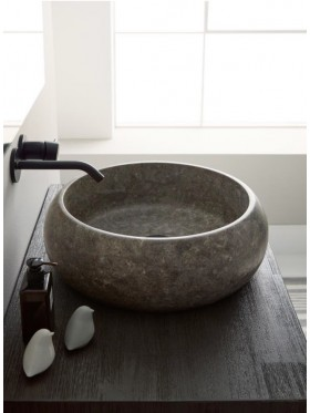 Lavabo de piedra caméron antracita