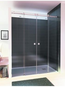 Mampara de ducha Frontal acero Inoxidable C4