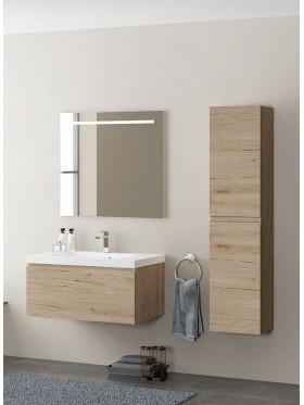 Mueble de baño Traina acabado roble