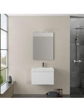 Mueble de baño Traina acabado blanco brillo