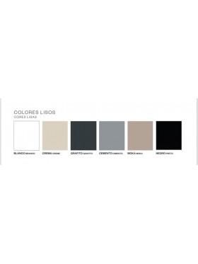 Colores disponibles en textura lisa