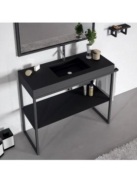 Mueble de baño Lupe en negro
