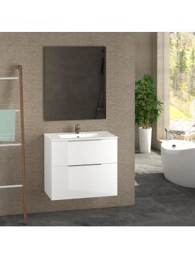 Mueble de baño Comet lacado en blanco brillo