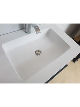 Encimera de baño solid surface 1 Seno con Faldón