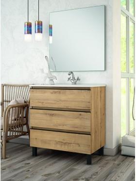 Mueble de baño Inglet compact en roble