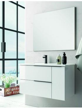 Mueble de baño Capri blanco brillo