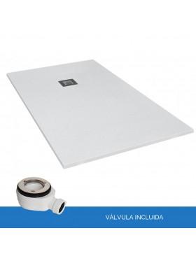 Plato de resina y carga mineral pizarra blanco