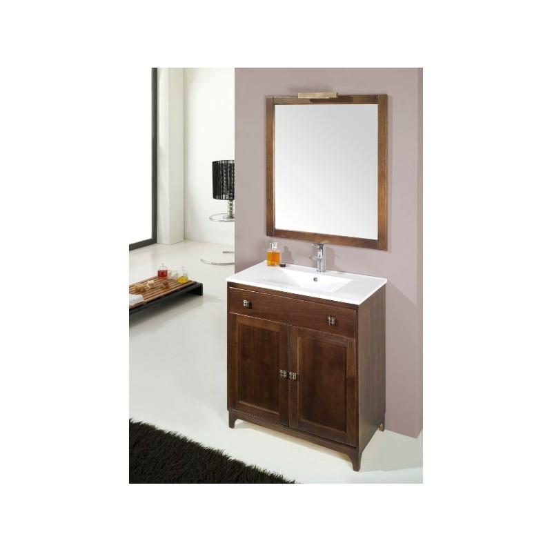 Mueble de ba o r stico malta for Mueble para bano madera