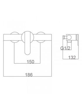Ficha técnica del grifo de ducha Roma