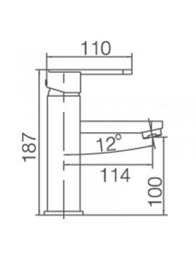 Ficha técnica de grifo de lavabo Roma negro Imex