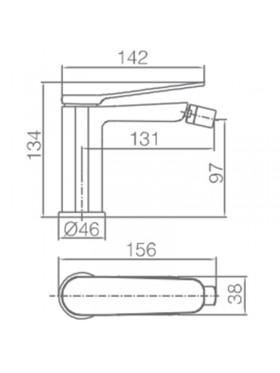 Ficha técnica grifo de lavabo Dinamarca Negro Imex