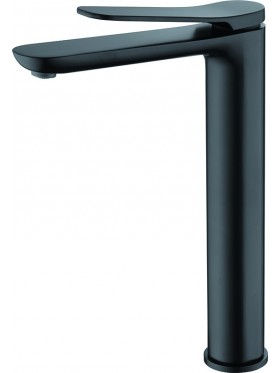 Grifo de lavabo caño alto Dinamarca Negro Imex