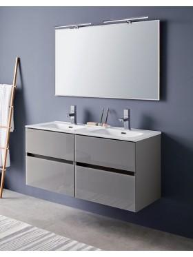 Mueble de baño glass line 120 cm doble seno