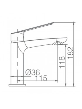 Ficha técnica grifo lavabo Luxor Negro Imex