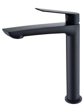 Grifo de lavabo caño alto Luxor Negro Imex
