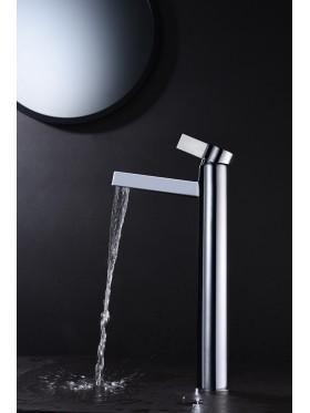 Grifo de lavabo de caño alto Elba Negro Imex