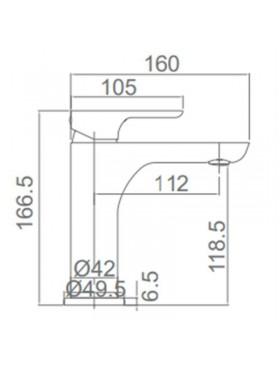Ficha técnica grifo lavabo Nassau Imex