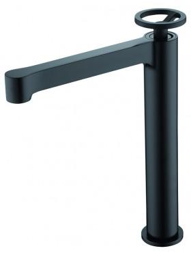 Grifo de lavabo caño alto Negro Olimpo Imex