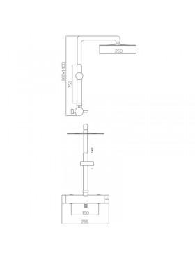Ficha técnica conjunto ducha Moscú Imex