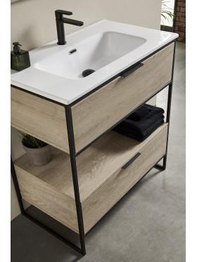 detalle del lavabo cerámico