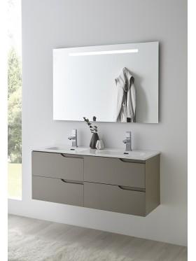 Mueble de baño Siena doble seno taupe