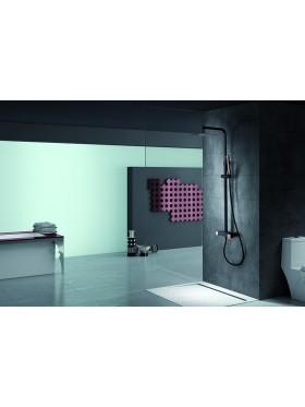 Conjunto de ducha Negro Oro Rosa Suecia Imex