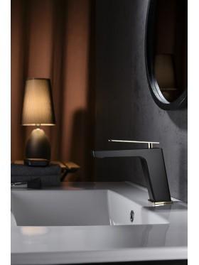 Grifo de lavabo Negro Oro Suecia Imex