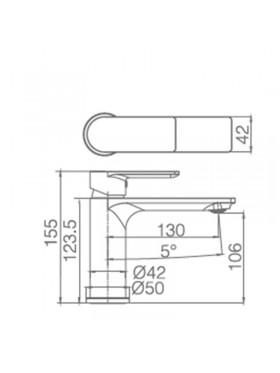 Ficha técnica grifo de lavabo Saona Imex