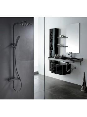 Conjunto ducha Negro Fiyi Imex