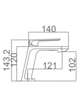 Ficha técnica grifo de lavabo Negro y Blanco Fiyi Imex