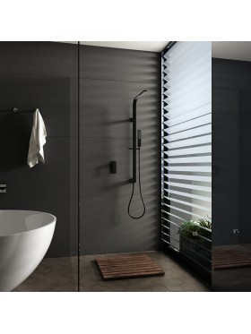 Conjunto ducha Negro Bahamas Imex