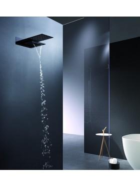 Detalle rociador de ducha Negro Rodas Imex