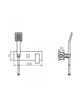 Ficha técnica de ducha Finlandia Imex