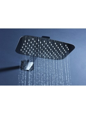 Detalle rociador de ducha Negro Hidra Imex