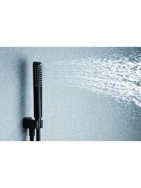 Detalle telefonillo de ducha Negro Hidra Imex