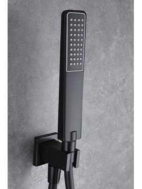 Detalle telefonillo de ducha Negro Suecia