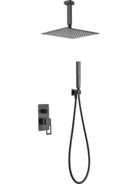 Conjunto de ducha Negro Estocolmo Imex