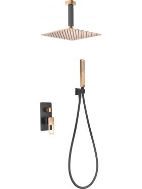 Conjunto de ducha Negro Oro Rosa Estocolmo Imex