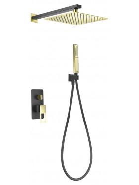 Conjunto de ducha Negro Oro Suecia Imex