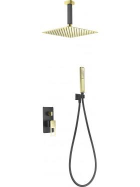 Conjunto de ducha Negro Oro Estocolmo Imex