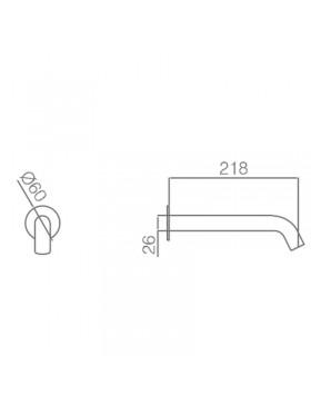 Ficha técnica de grifo de lavabo Milos Imex