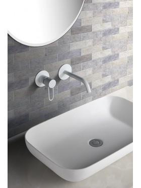 Grifo de lavabo Blanco Milos Imex