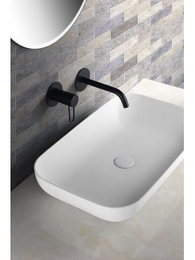 Grifo de lavabo Negro Milos Imex