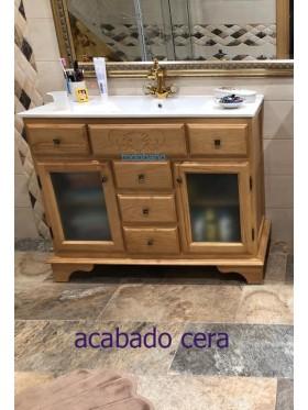 Mueble de baño Alhambra acabado cera