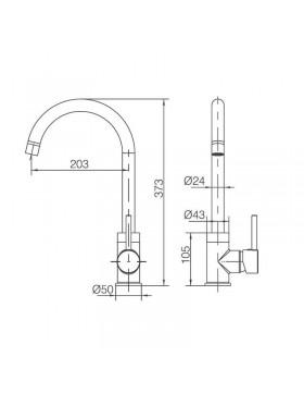 Ficha técnica de grifo de fregadero Lyon Imex