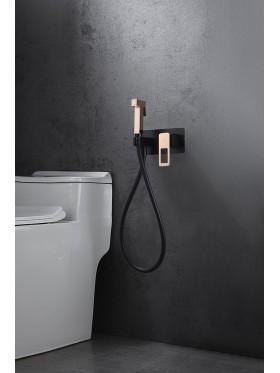 Grifo de bidé empotrado Negro Oro Rosa Suecia Imex